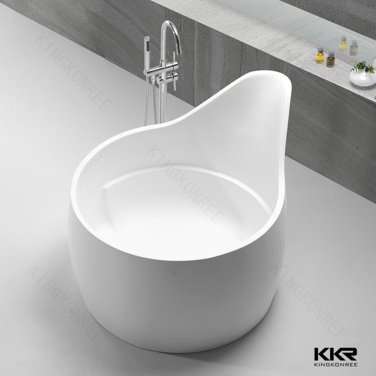 2017 New Design White Solid Surface Freestanding Bathtub