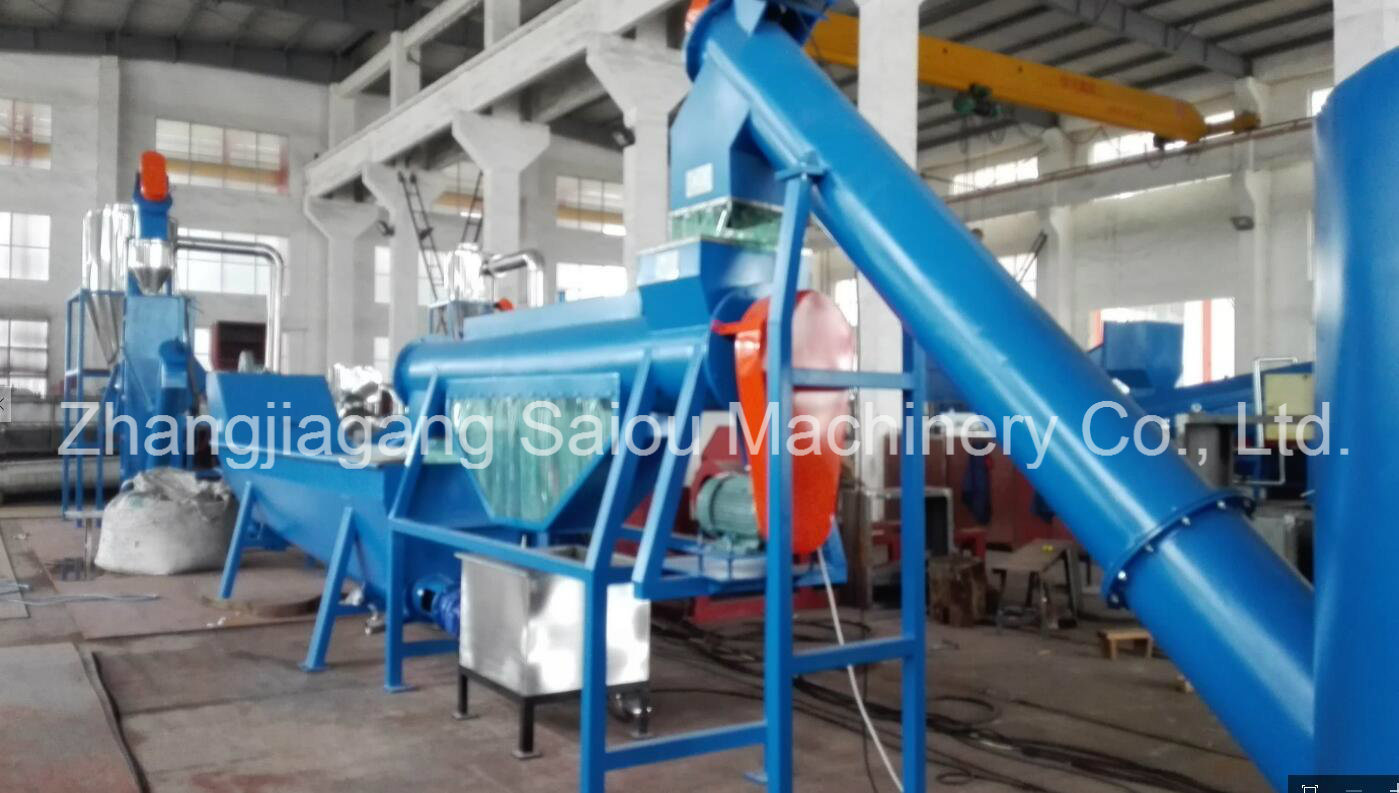 Ce Hot Washing Pet Plastic Recycling Line