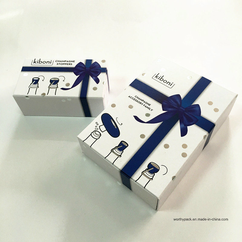 Folding Cardboard Rigid Paper Gift Box for Wine Accessories Packaging