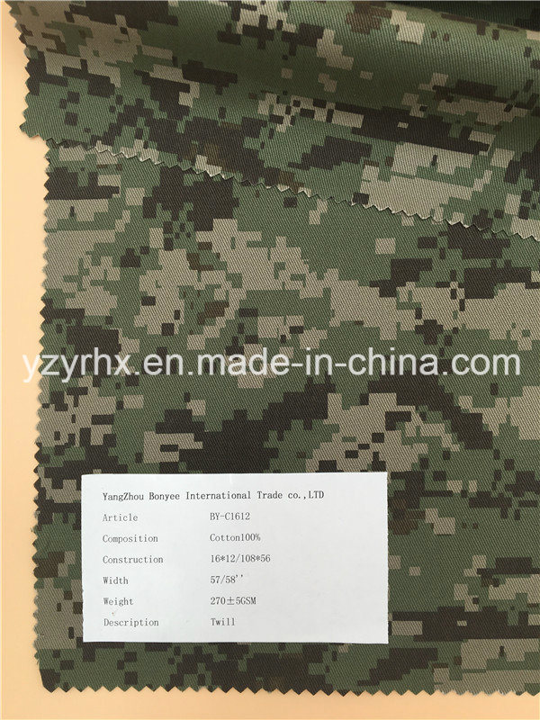 Finished Fabric 100% Cotton Twill Printed Camouflage