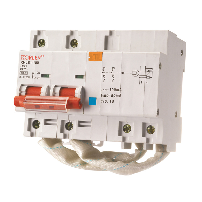(KNLE1-100 NC-100) Residual Current Circuit Breaker