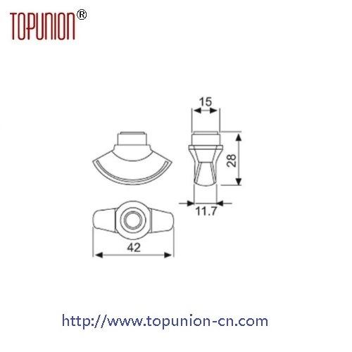 Elegant Design Full Finishing Brass Thumb Turn Knob Turn (CH014)