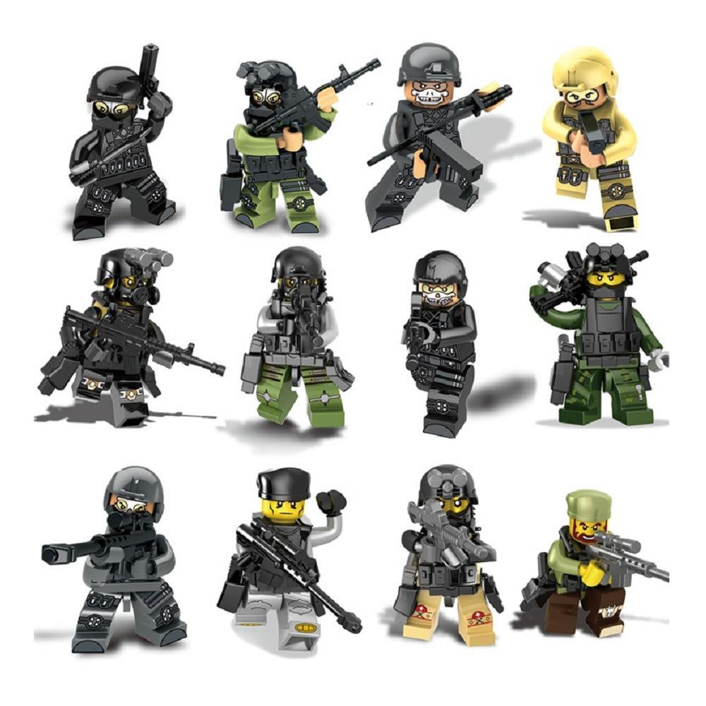 Latest Building Block Toy Plastic Figure Chain Block Hzh-Swat51000