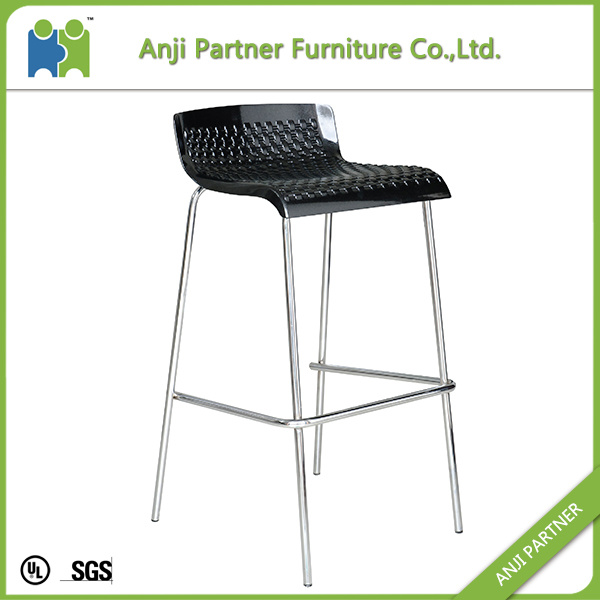 Hot Selling Durable Plastic Bar Stool Chair with Metal Feet (Harvey)