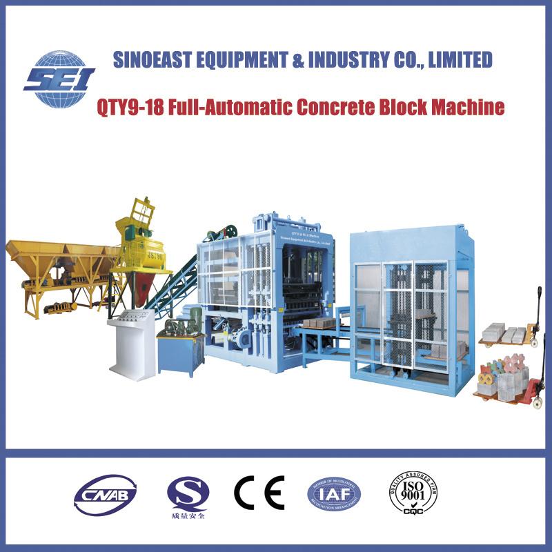 Qty9-18 Full-Automatic Cement Brick Making Machine