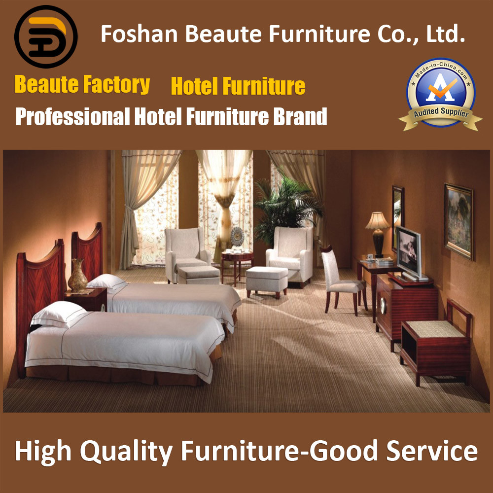 Hotel Furniture/Luxury Double Hotel Bedroom Furniture/Standard Hotel Double Bedroom Suite/Double Hospitality Guest Room Furniture (GLB-0109803)