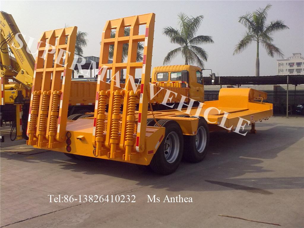 2 Axle Gooseneck Lowbody Lowloader Lowbed Semi Truck Trailer