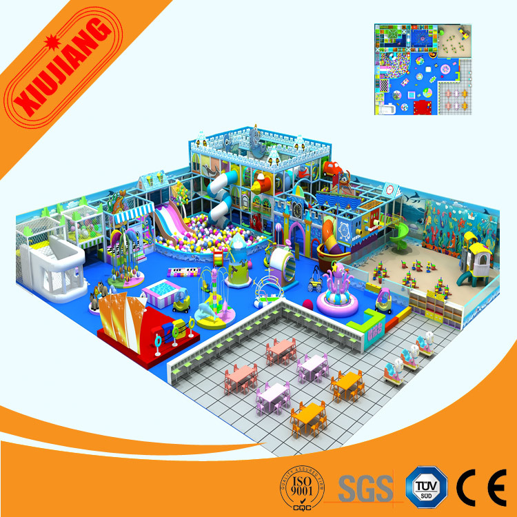 Commercial Marine Indoor Playground Slide Equipment (XJ5044)