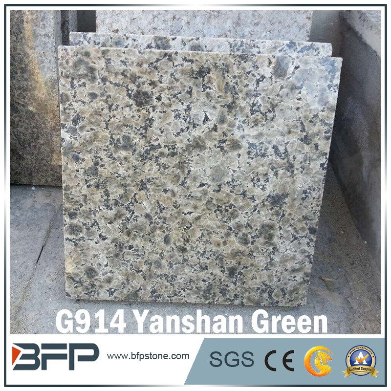 China Natural Stone Green Floor Tile Granite for Flooring/Wall/Stairs/Window Sill