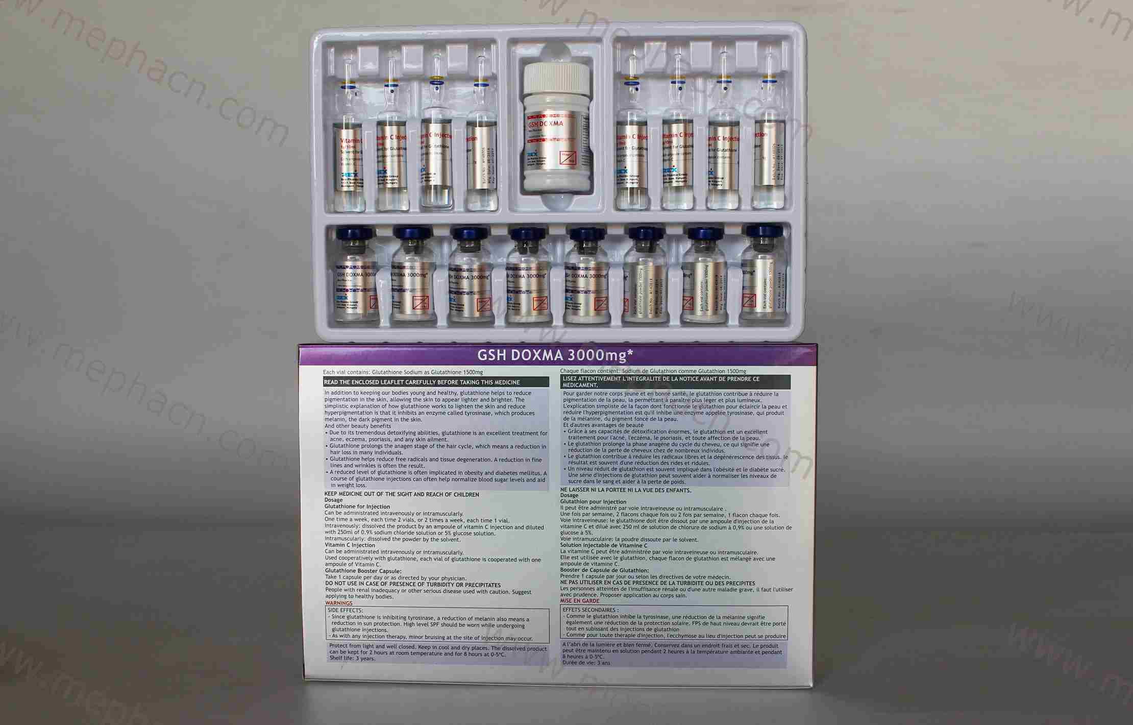 Good Whitening Effect Glutathione 300mg/600mg/900mg/1200mg/1500mg/2400mg/3000mg&Glutathione
