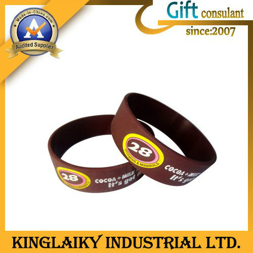 Silicone Bracelet/Wristband with Braille for Promotional Gift