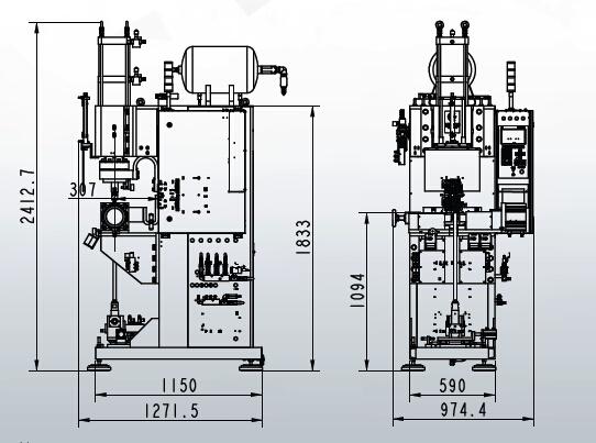 220kVA Press Welder for Gas Spring