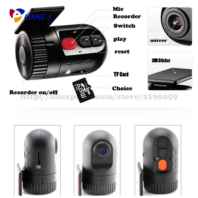 Hot Car DVR No Screen Recorder Car-Detector Auto Black DVR High Quality Car Camera Video Durable Recorder Registrator Car DVR