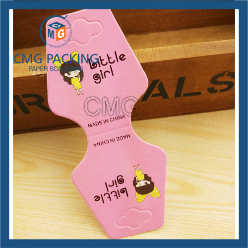 Jewelry Hanging Card Black Gloosy Plastic (CMG-092)