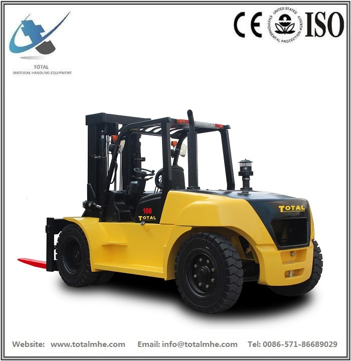 10 Ton Diesel Forklift with Japanese Engine Isuzu 6bg1 Engine
