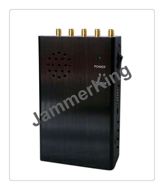 China Handheld Signal Jammer for GPS, Lojack, Mini Protable Bluetooth / Wireless Signal Jammer WiFi: 2400-2500MHz - China 5 Band Signal Blockers, Five Antennas Jammers