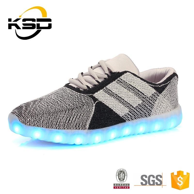 Hot New Style Custom Fabric Luminous LED Shoes for Children