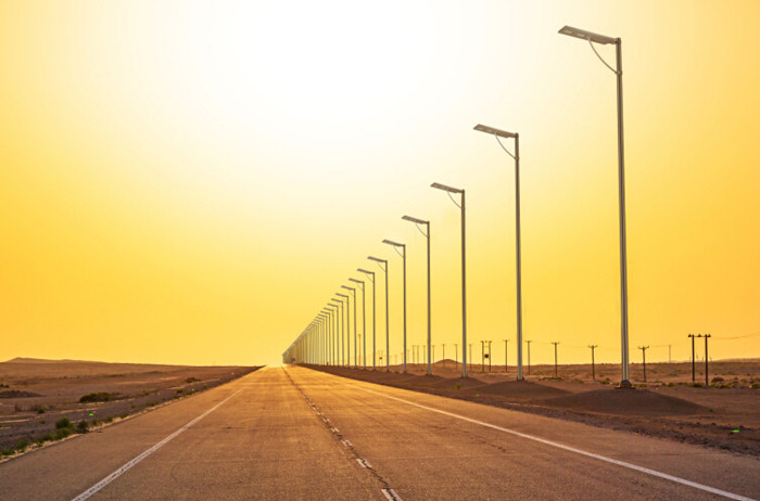 5/10/20/30/40/60W Integrated Garden Yard Street Solar Lamp