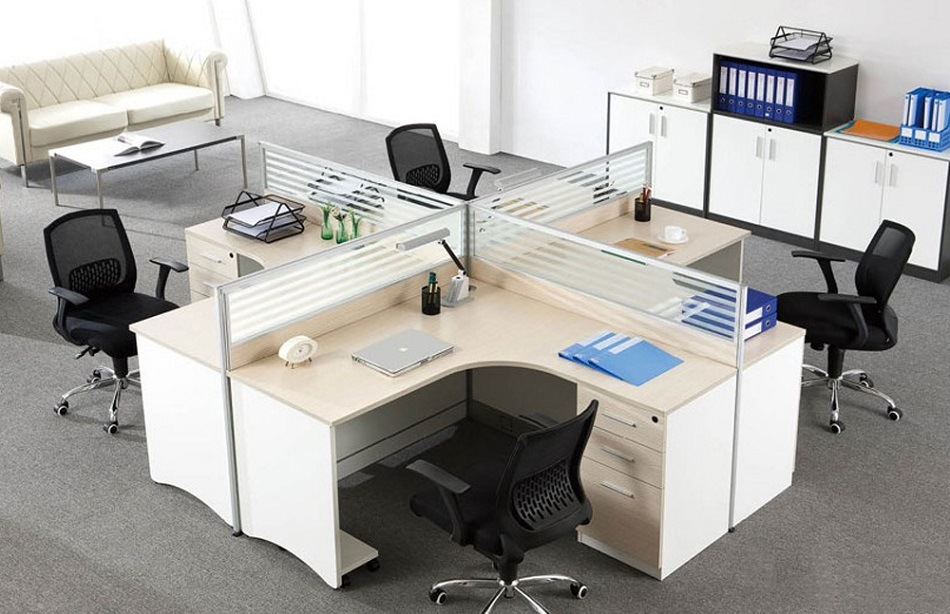 China modern simple design office furniture glass office for Simple office furniture design