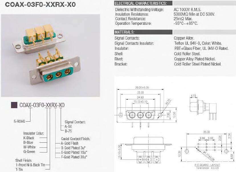 Coaxial Connector, Power Connector, Medical Connector