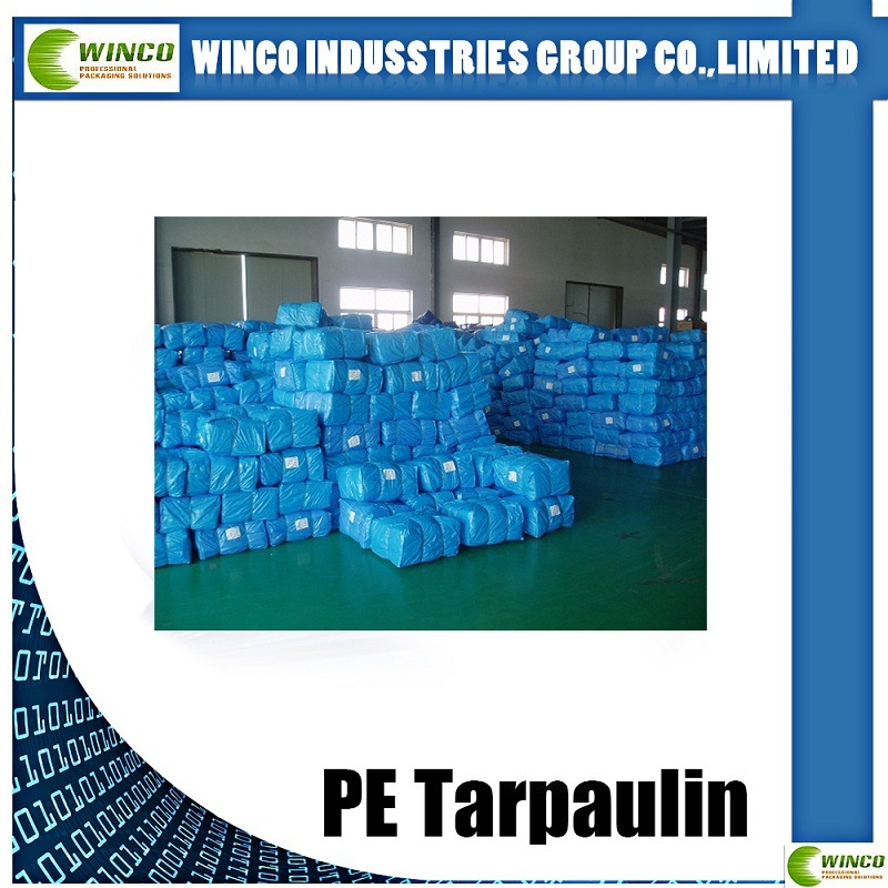 High Density PE Tarpaulin Waterproof and UV Resistant PE Tarpaulin
