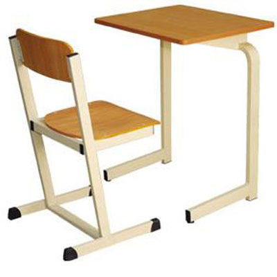 Chinese Wooden Single Student Desk and Chair/School Furniture (FS-3215)
