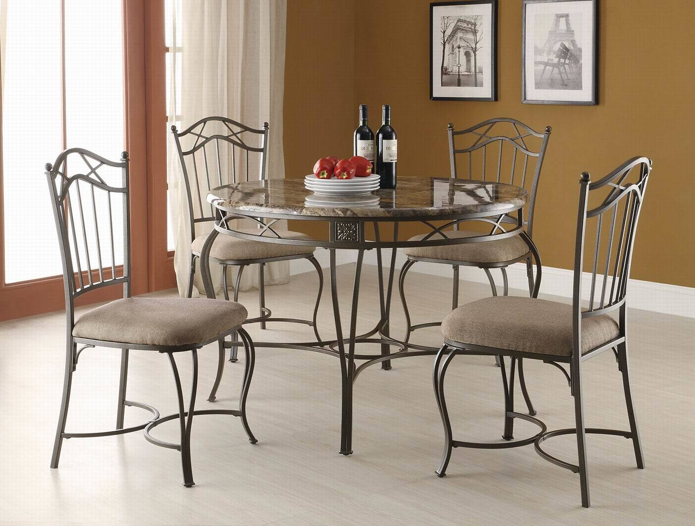 Metal Dining Furniture with Powder Coating Painting