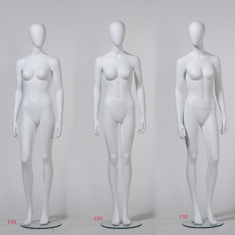Popular Matte White Female Mannequin with Egg Head