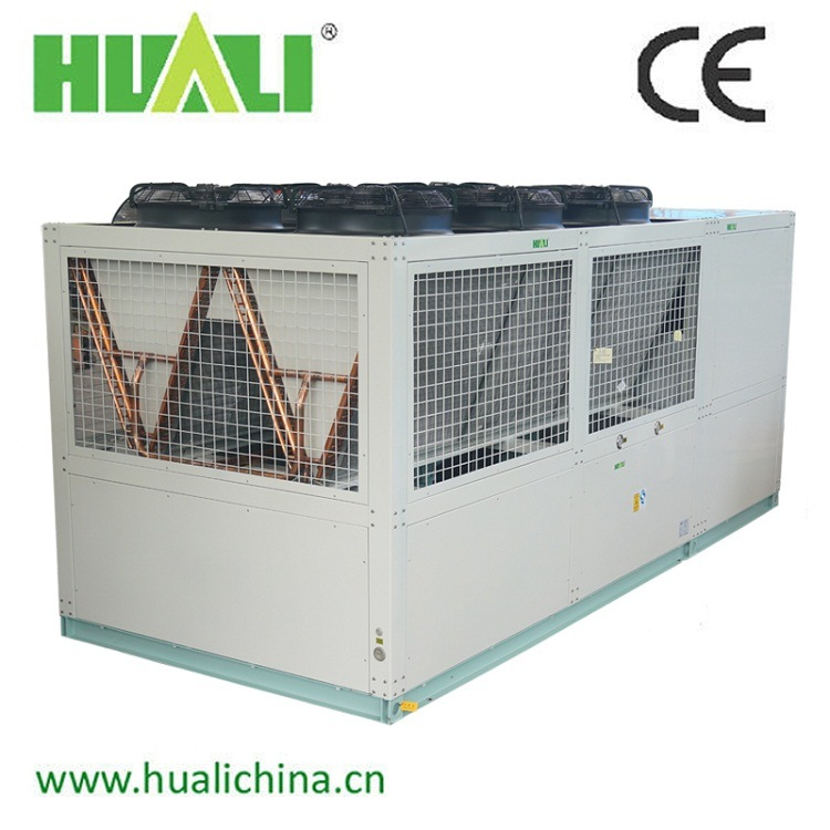Double Screw Compressor Industrial Air to Water Air Cooled Water Chiller