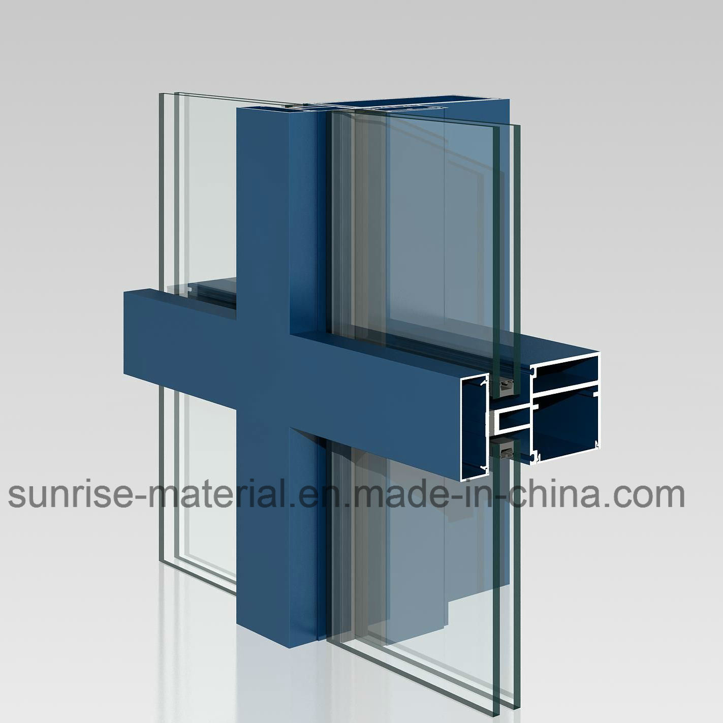 Aluminum Curtainer Wall Profiles