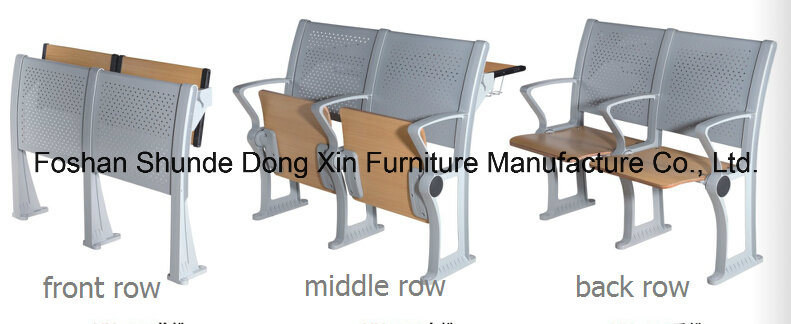 Folding Aluminum University School Desk and Chair Classroom Furniture