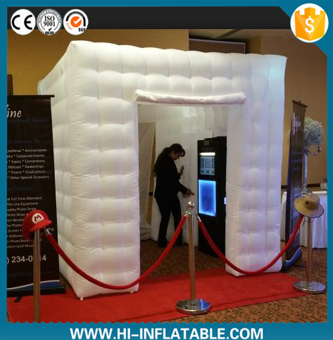 fashion Colorful LED Light Inflatable Photo Booth for Wedding Decoration