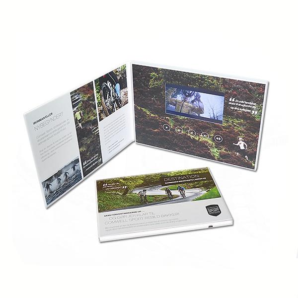 Custom LCD Video Brochure Card for Advertising