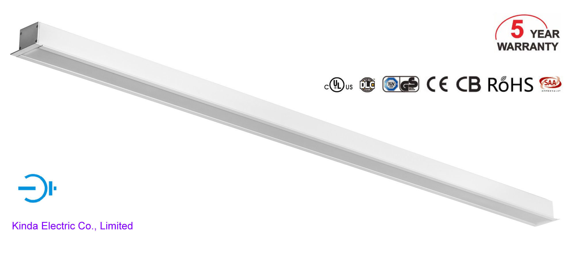 Recessed in The Ceiling/Wall 5 Years Warranty 24W SMD2835 LED Linear Light Lighting with UL Ce RoHS
