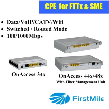 Data+VoIP+CATV+WiFi Gigabit P2p CPE Home Gateway