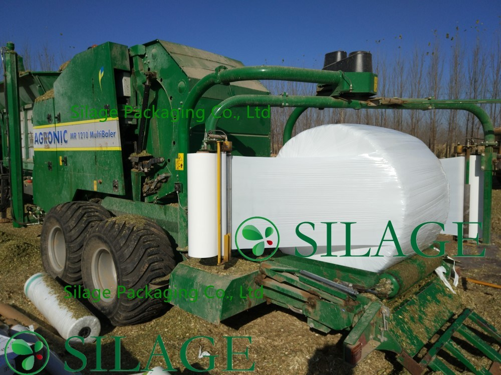 750mm*1500m*25mic Blown Round Bale Foil Silage Wrap Film