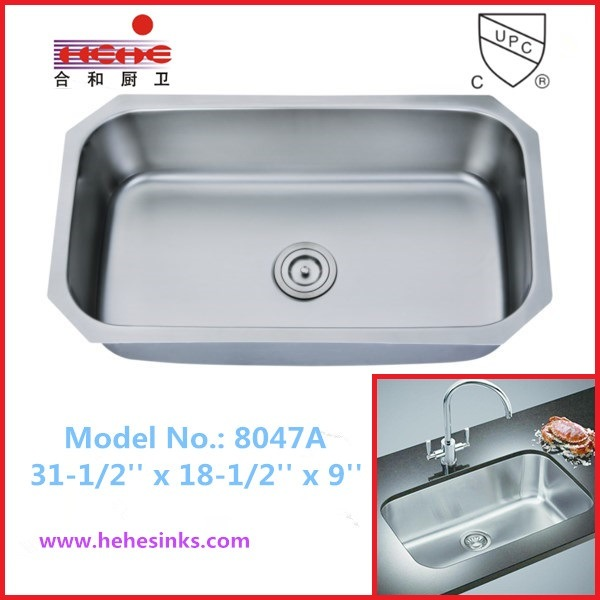 18 Gauge Single Bowl Kitchen Sink with Cupc Certification, Bar Sink (8047)