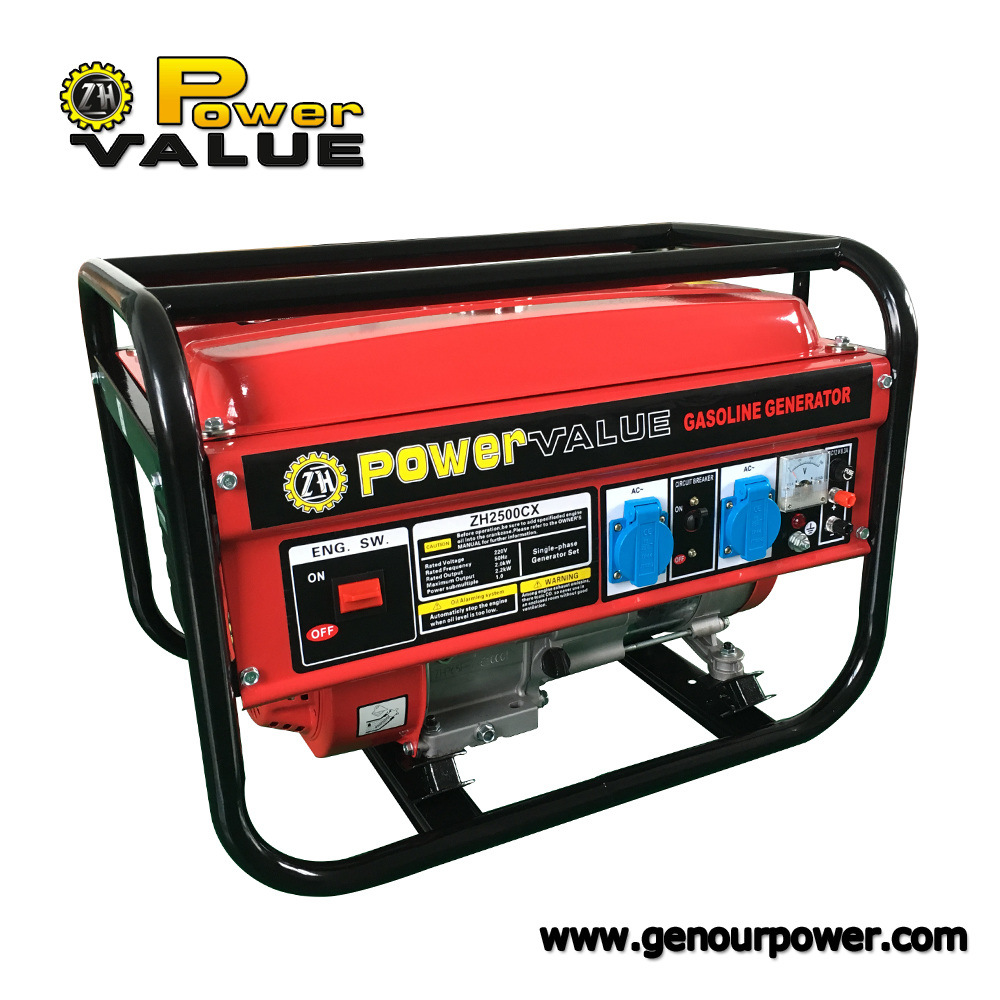 5.5HP 6.5HP Gasoline Generator Set Air Cooled 7.5HP Generator Power 1kw to 7kw Power Generator