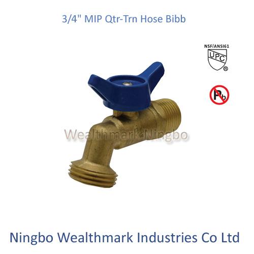 "Qtr-Trn 3/4""Mip Hose Bibb Brass Valve of Ball Type"