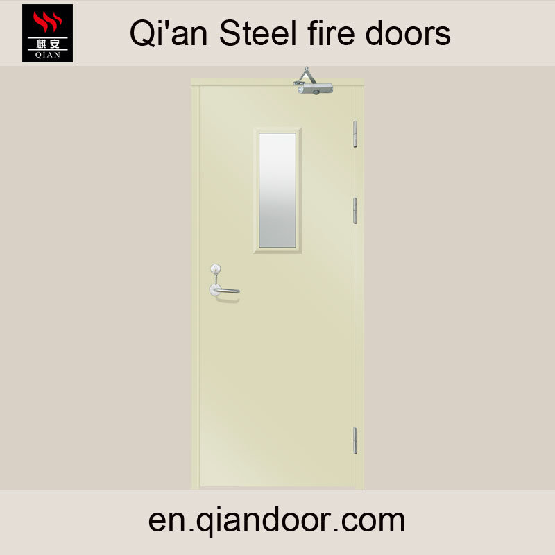 Steel Fire Door with Fireproof Vision Glass