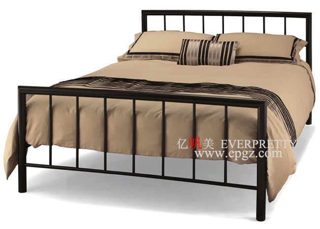 Bedroom Furniture Folding Super Single Metal Bed Designs with Mattress