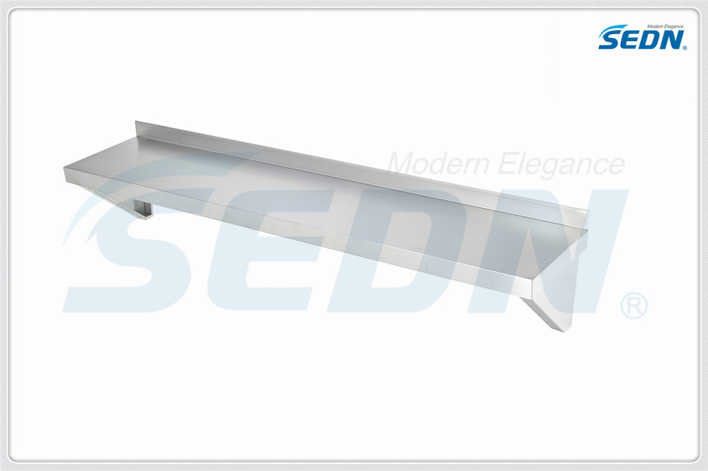 Handmade Commercial Stainless Steel Solid Wall Shelves (MT 1039)