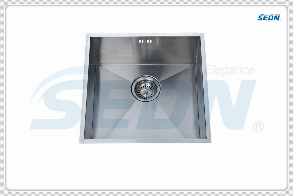 Handmade Single Bowl Stainless Steel Sinks (SA1016)