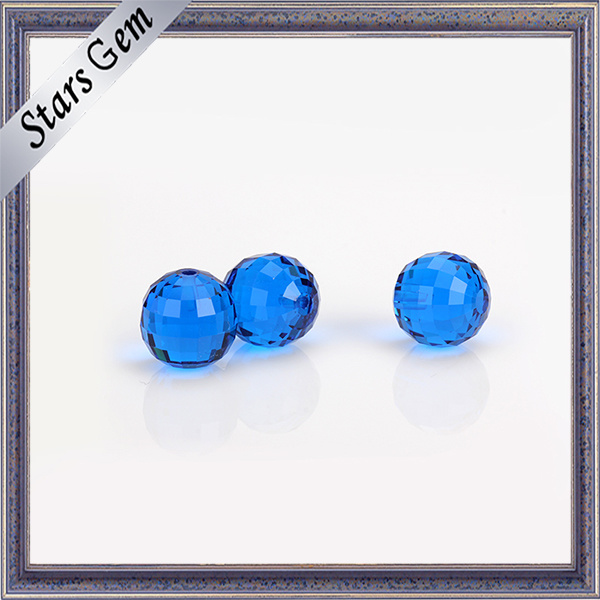 Transparent MID-Blue Factory Price Synthetic Gemstone Bead