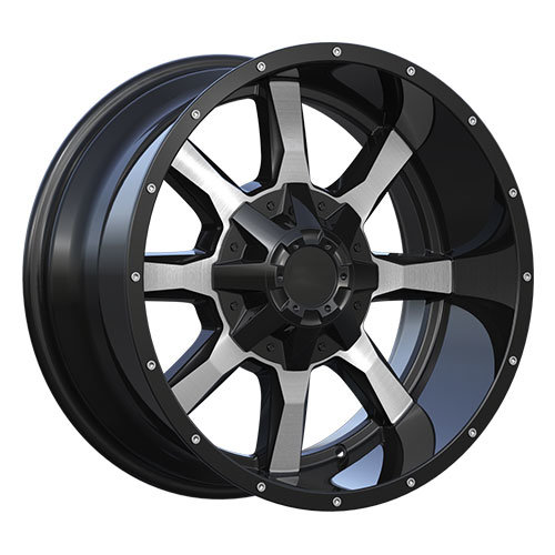 Deep Lip Alloy Wheels with Large Cap and Rivets