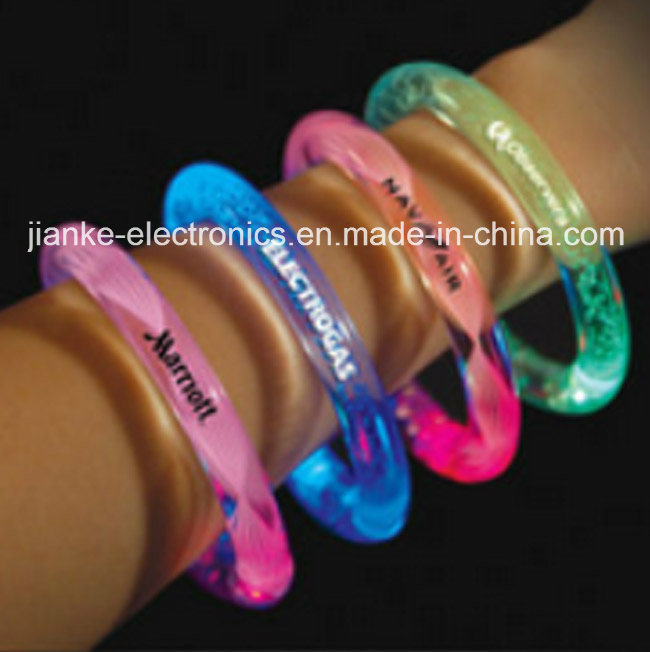 Music Control LED Light up Bracelets with Logo Printed (4010)