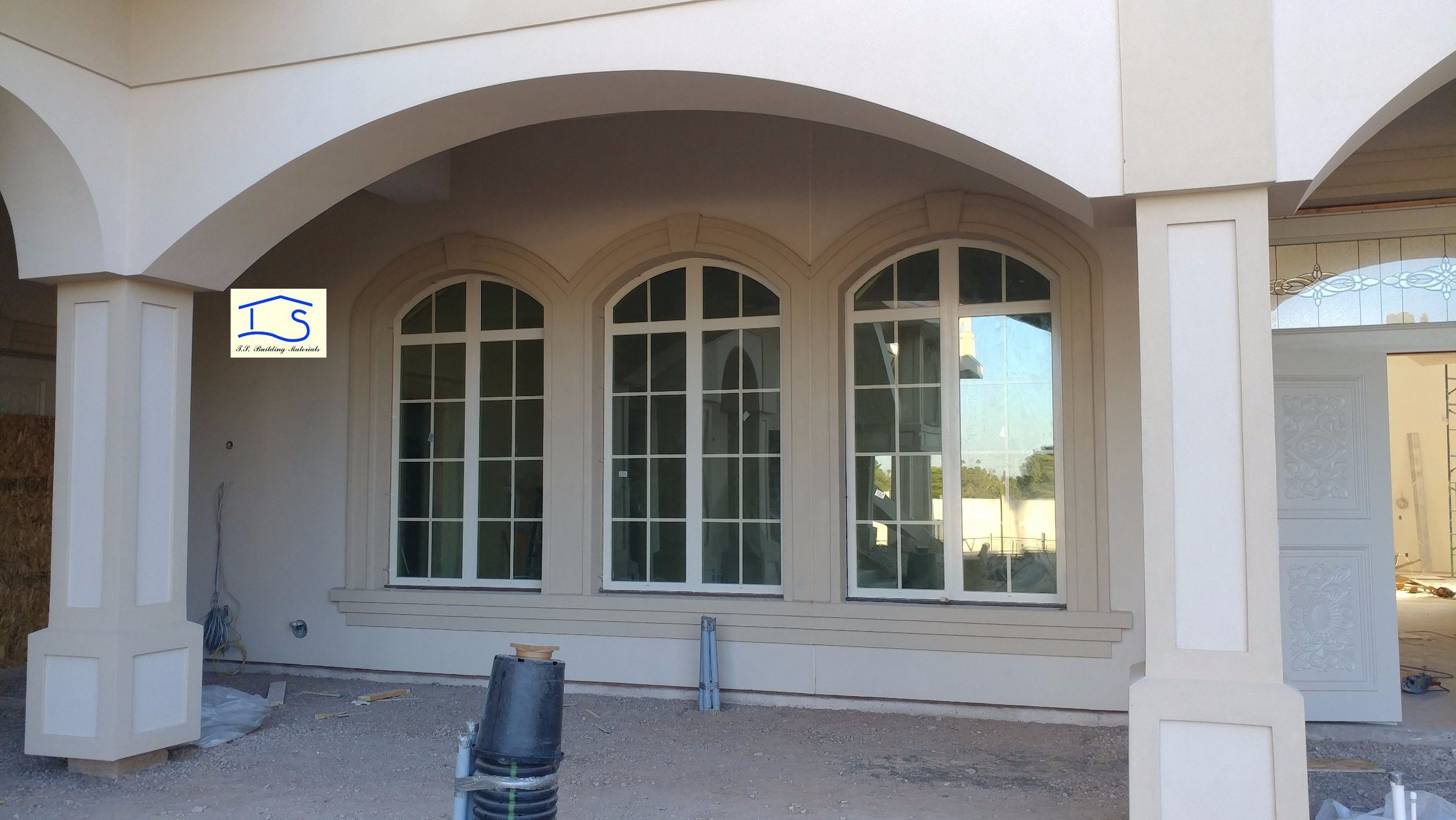 Energy Saving Double Glass Thermal Break Aluminum Window Doors