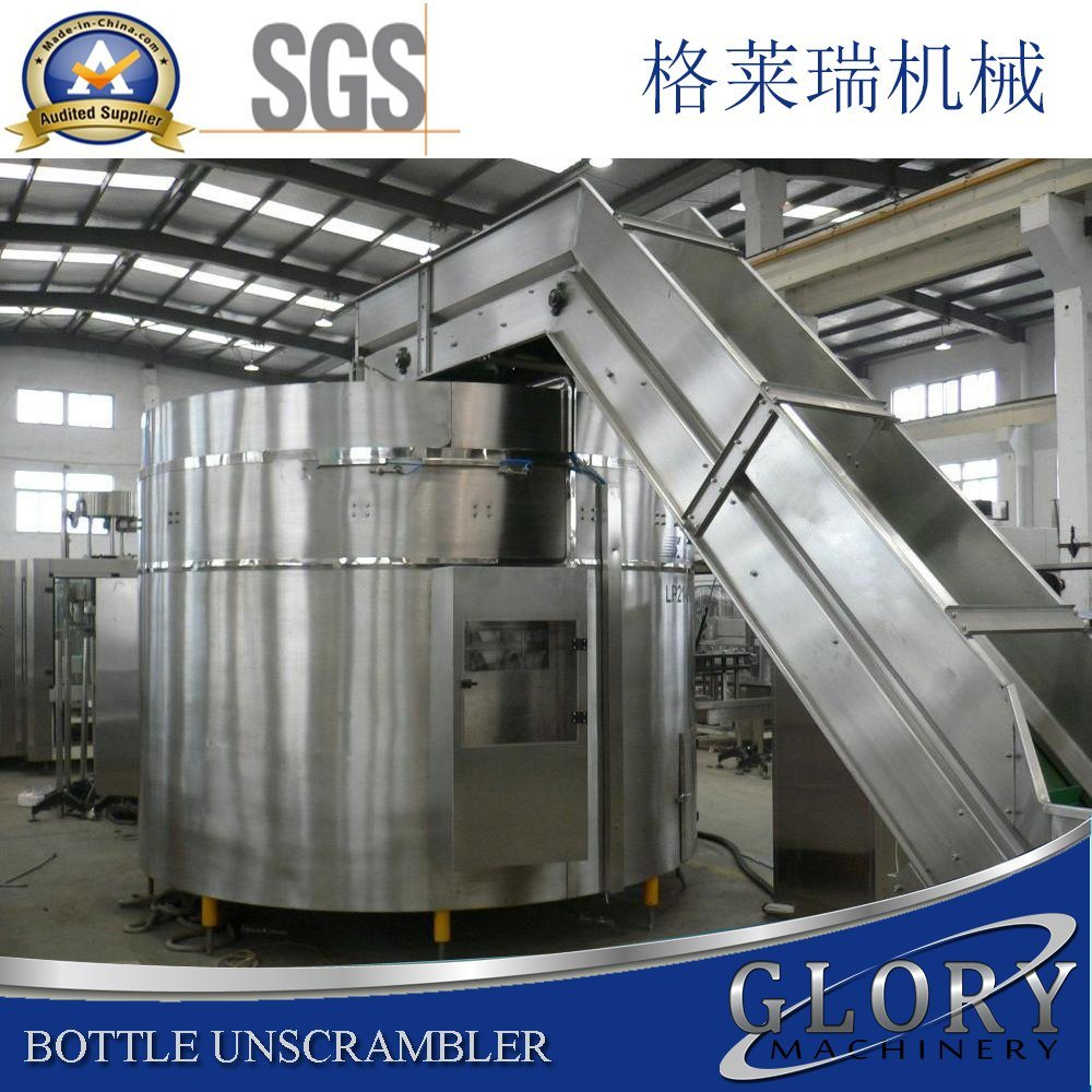 Full Automatic Bottle Unscrambler Machine with Bottle Elevator