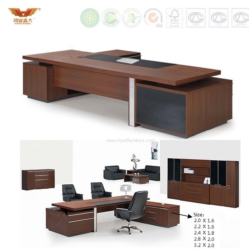 Fsc Forest Certified New Fashion Design Office Furniture Executive Modern Director Computer Table