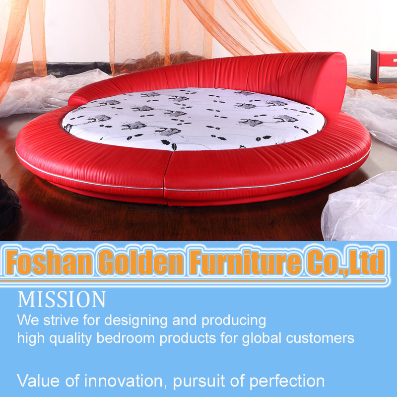 Big round bed prices bedroom furniture 6805 china beds for for Round bed designs with price